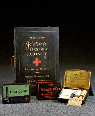 Early Johnson first aid kits
