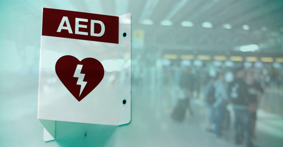 AED CPR Saves Life at Airport