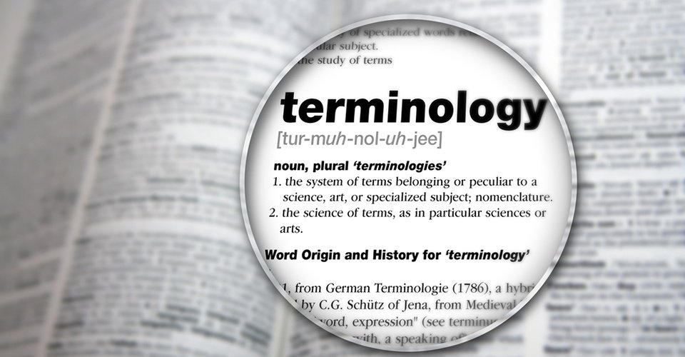 Terminology and keywords